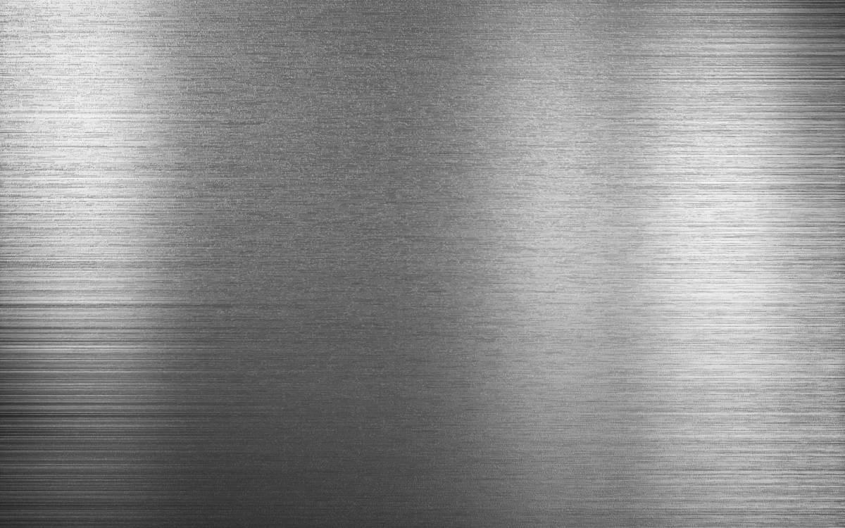 Brushed metal corner