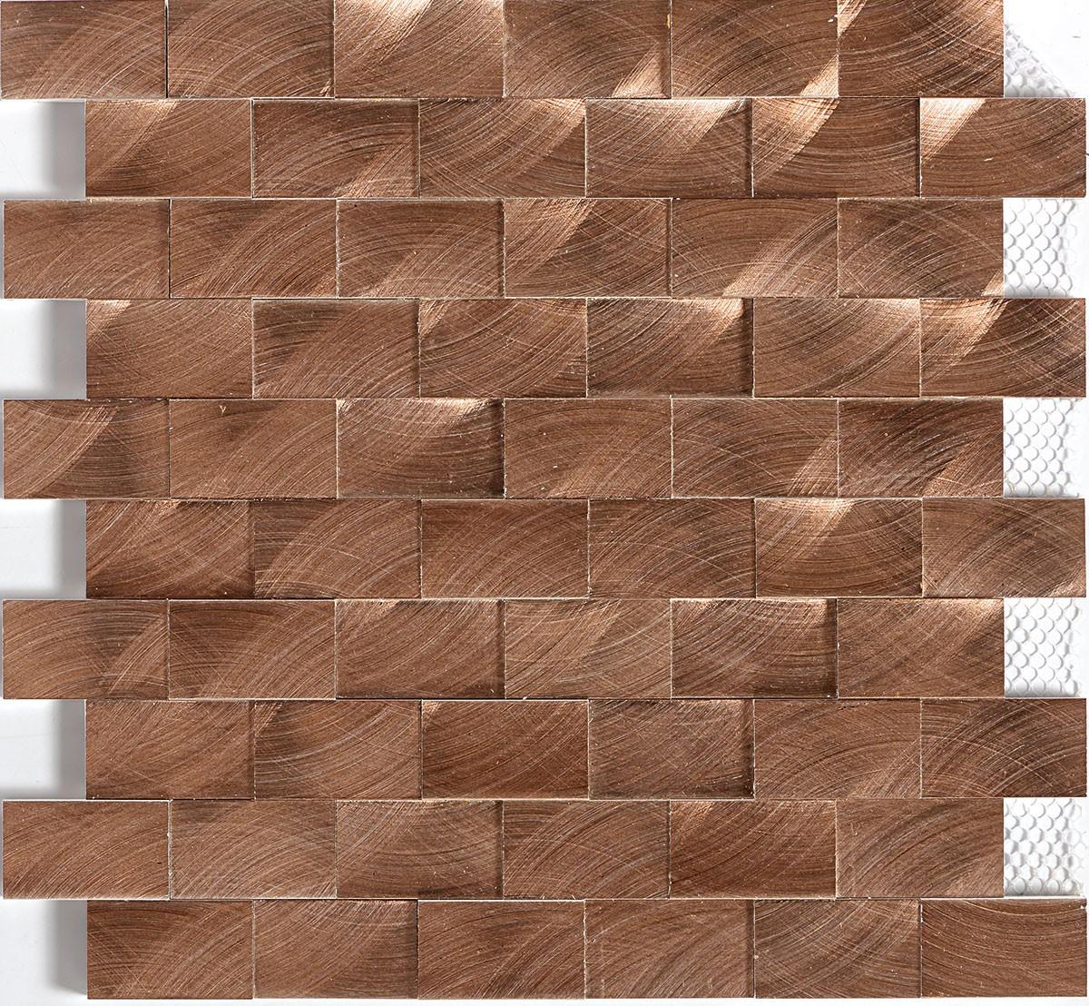 ST71 Copper Mosaic 3d brick joint