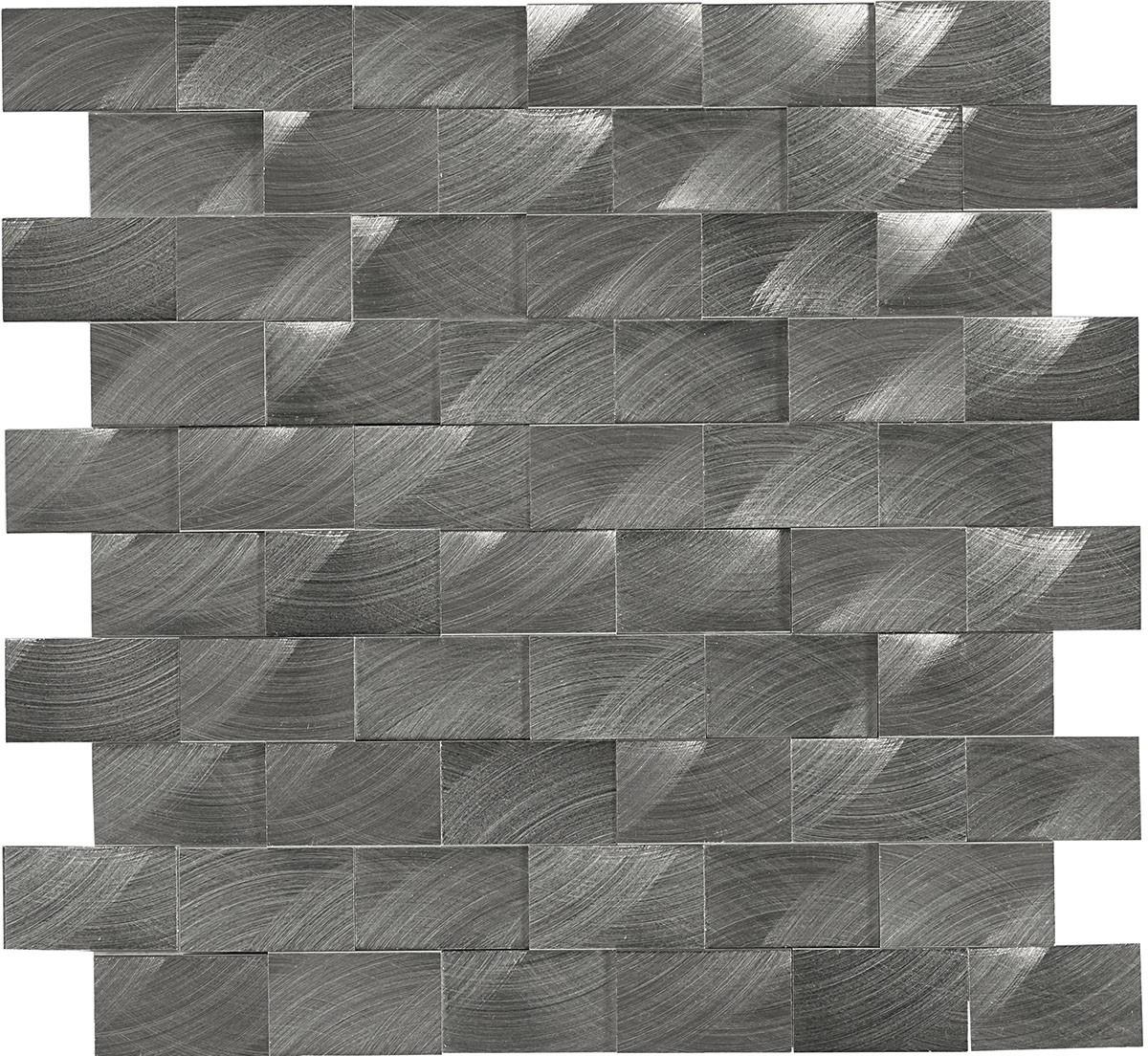ST72 Gunmetal Mosaic 3d brick joint