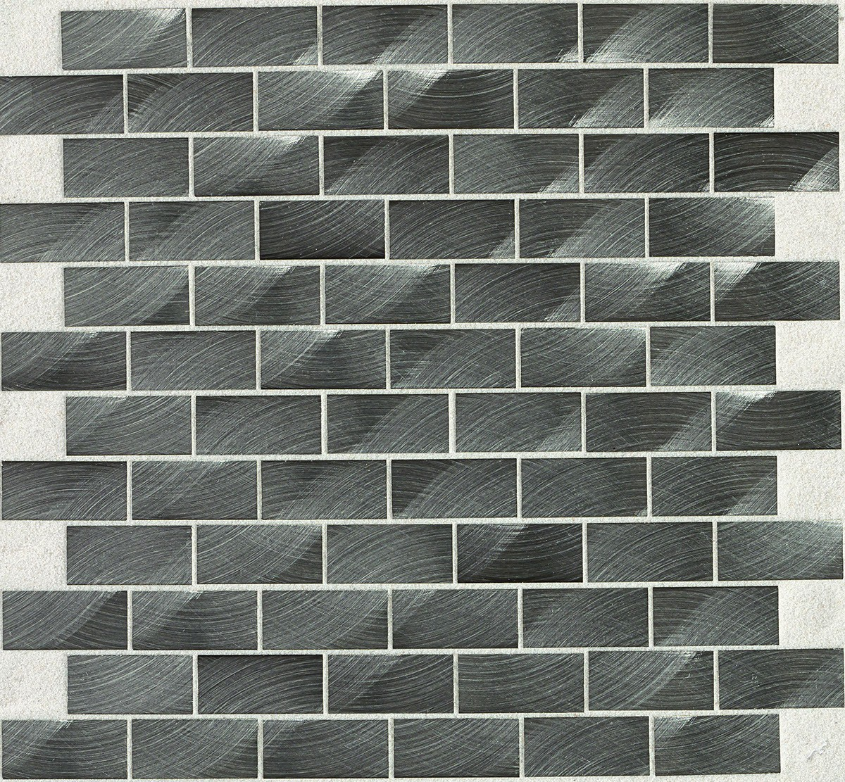 ST72 Gunmetal Mosaic brick joint