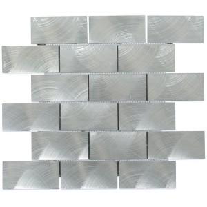 ALUMINUM tile, Silver by Soho Tiles