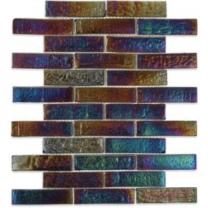 IRIDESCENT tile, Iridescent Inkwell Bricks by Soho Tiles