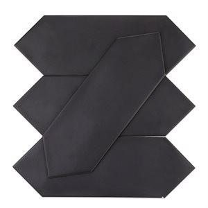 KITE tile, Black by Soho Tiles