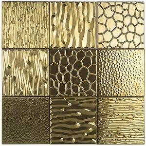 METAL ART tile, Gold by Soho Tiles