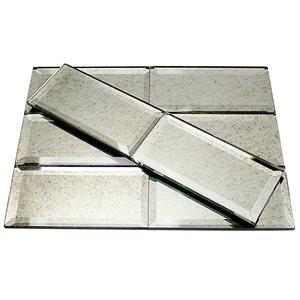 MIRROR tile, Mirror Antique 3x6 Beveled by Soho Tiles