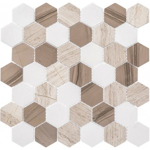 Colonial Series, Bay Colony hex glass tile