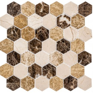Colonial Series, Rock Haven hex glass tile