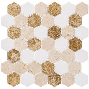 Colonial Series, Providence Pier hex glass tile