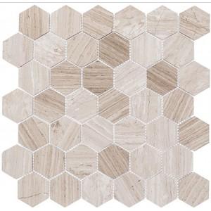 Colonial Series, Virginia Dunes hex glass tile
