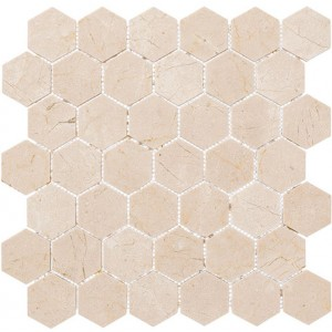 Colonial Series, Village Square hex glass tile