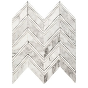 CHEVRON GLACIER marble tile