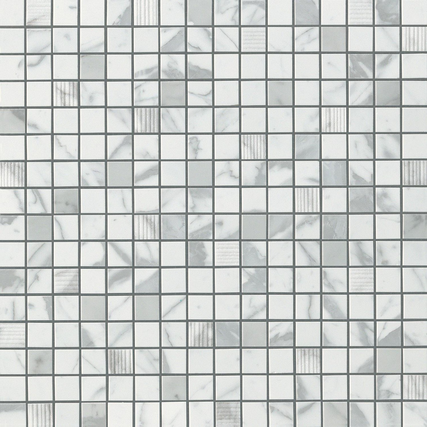 Atlas Marvel Calacatta Extra marvel statuario select mosaic - mosaic tile brick atelier