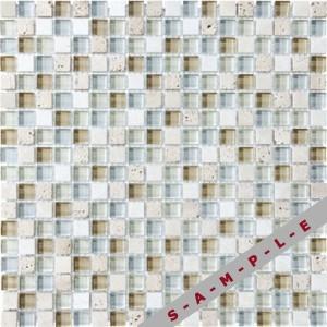 Bliss Glass & Stone tile, Spa Glass Stone Blend by Anatolia Tile