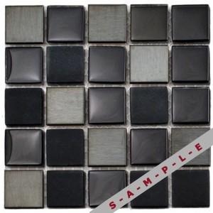 Horizon glass and metal glass tile