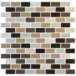 Zen Escape 3/4 x 1 1/2 Brick-joint Mosaic BP96