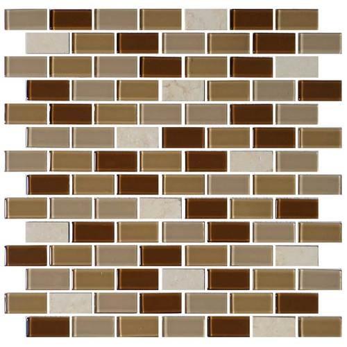 Caramelo 3/4 x 1 1/2 Brick-joint Mosaic BP95